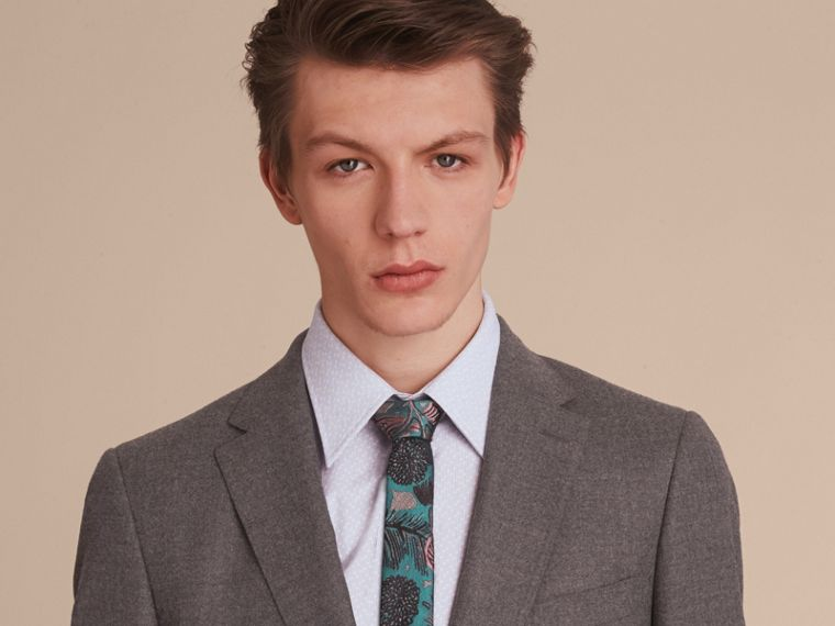 Soho Fit Wool Flannel Suit in Dark Charcoal Melange - Men | Burberry - cell image 4