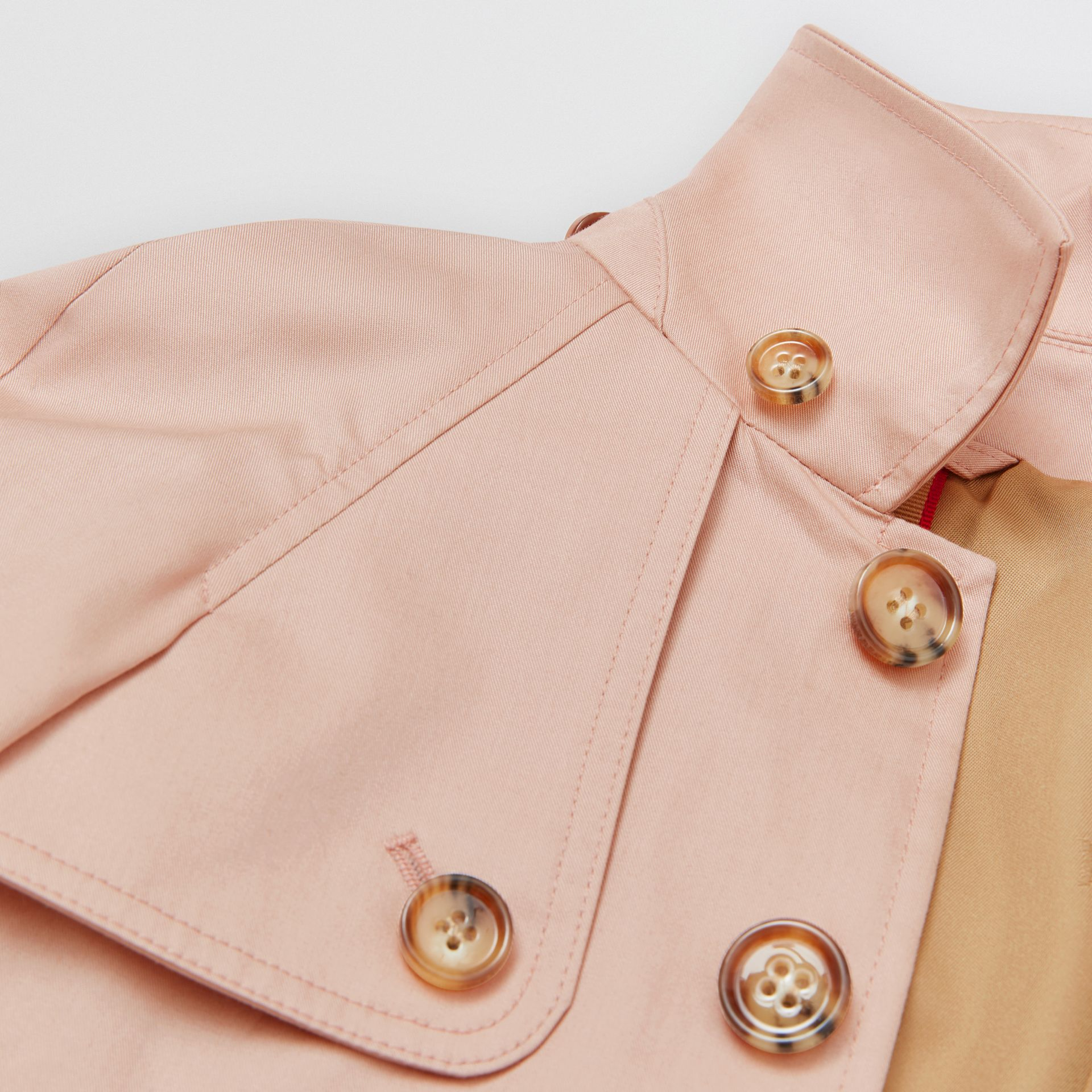 Detachable Hood Cotton Twill Car Coat in Ice Pink - Children | Burberry - gallery image 6