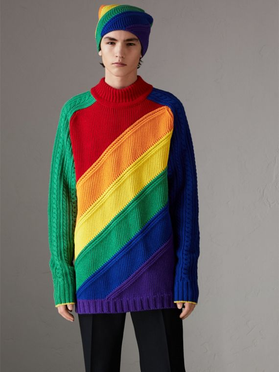 Rainbow Wool Cashmere Sweater