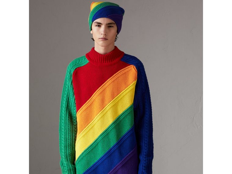 Rainbow Wool Cashmere Sweater | Burberry - cell image 4