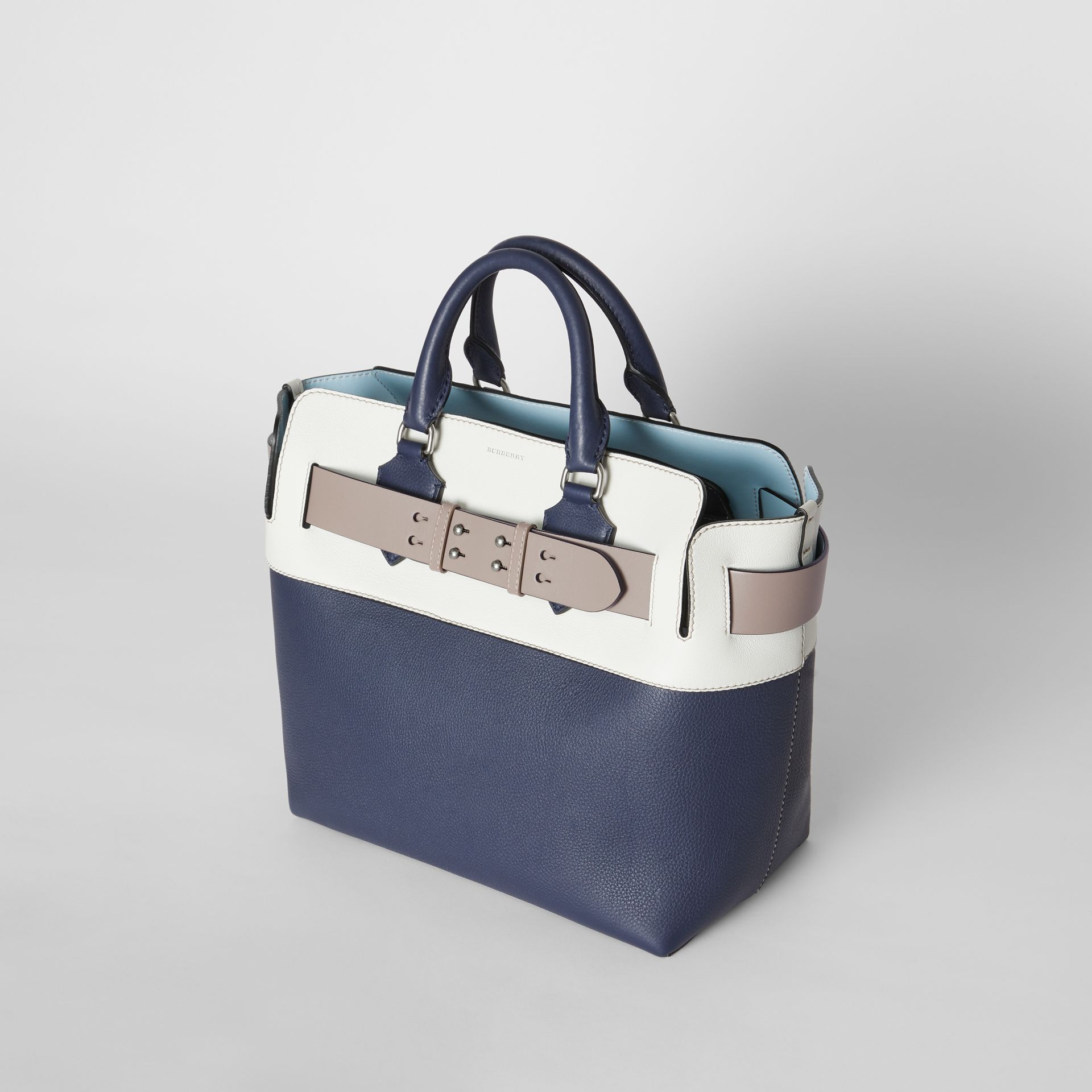 The Medium Tri-tone Leather Belt Bag in Regency Blue - Women | Burberry - gallery image 3