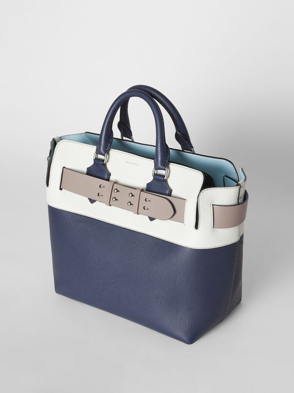 The Medium Tri-tone Leather Belt Bag in Regency Blue - Women | Burberry - cell image 3
