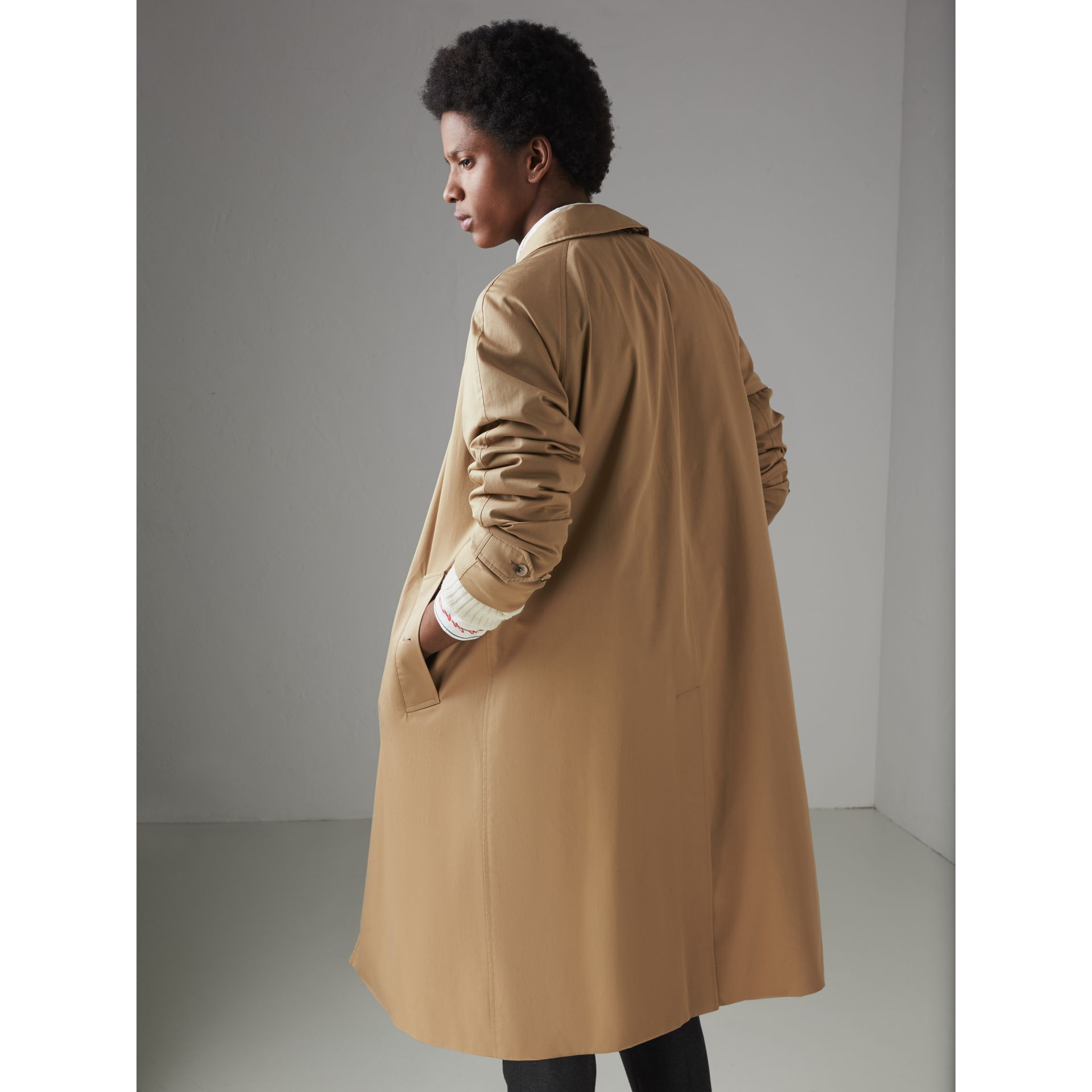 Cotton Gabardine Car Coat in Camel - Men | Burberry - gallery image 2