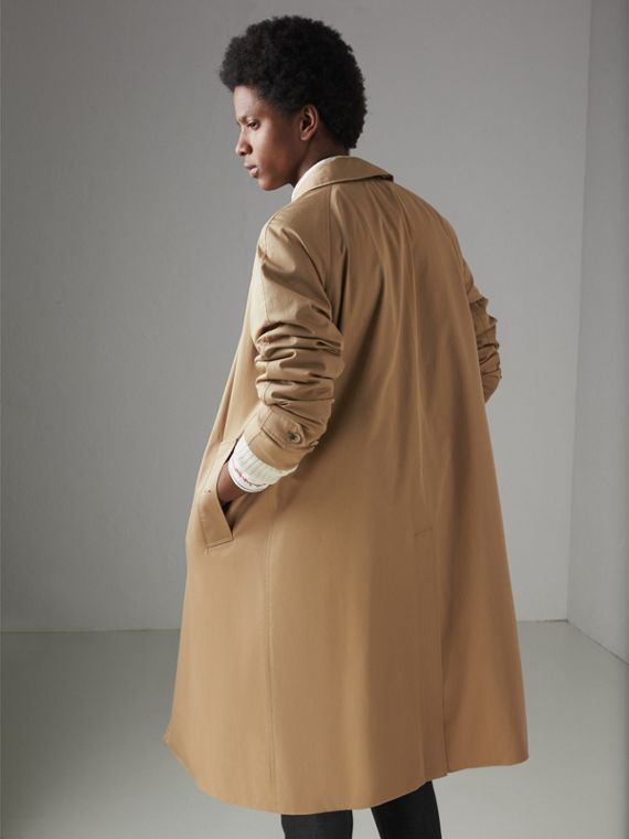 Cotton Gabardine Car Coat in Camel - Men | Burberry Canada - cell image 2