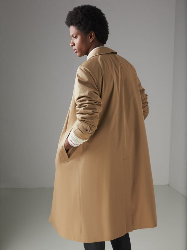Cotton Gabardine Car Coat in Camel - Men | Burberry - cell image 2