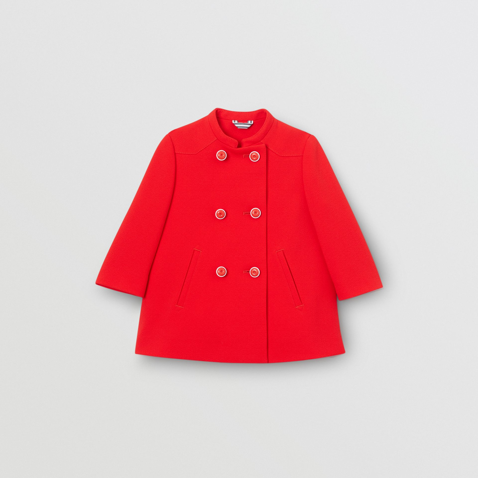 Crepe Jersey Swing Coat in Bright Red - Children | Burberry - gallery image 0