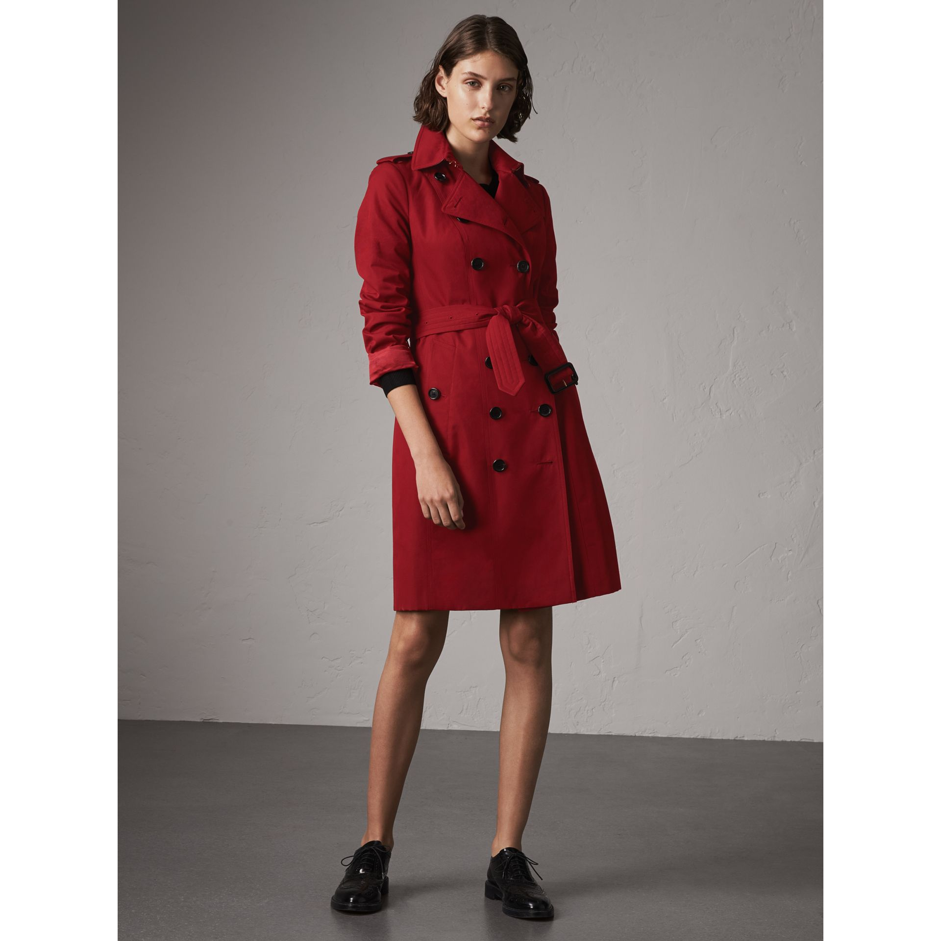 The Sandringham  – Long Trench Coat in Parade Red - Women | Burberry - gallery image 6