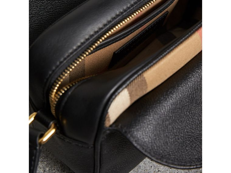 The Small Buckle Crossbody Bag in Leather in Black - Women | Burberry United Kingdom - cell image 4