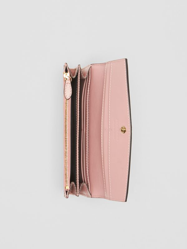 House Check And Leather Continental Wallet in Pale Orchid - Women | Burberry Canada - cell image 3
