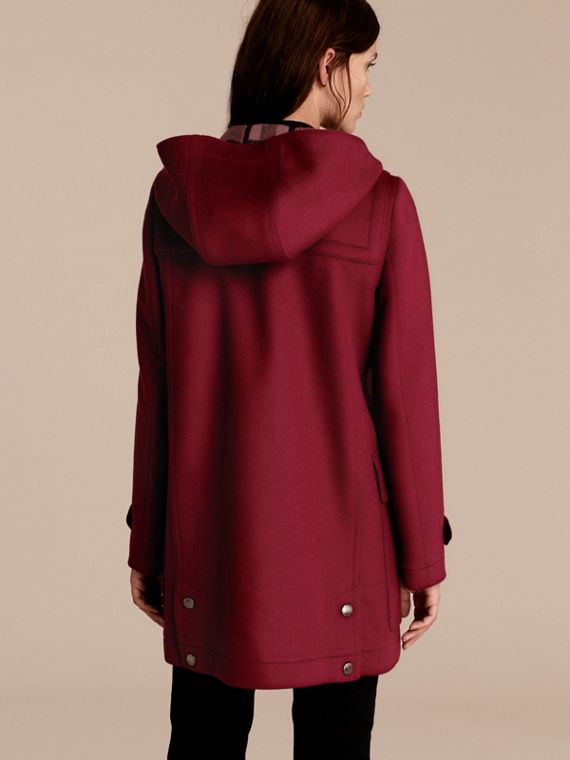 Dark plum Wool Duffle Coat - cell image 2