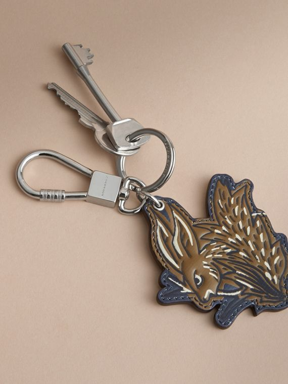 Beasts Leather Key Ring in Tan - cell image 2