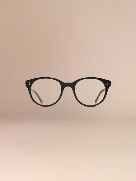 Black Round Optical Frames Black - cell image 2