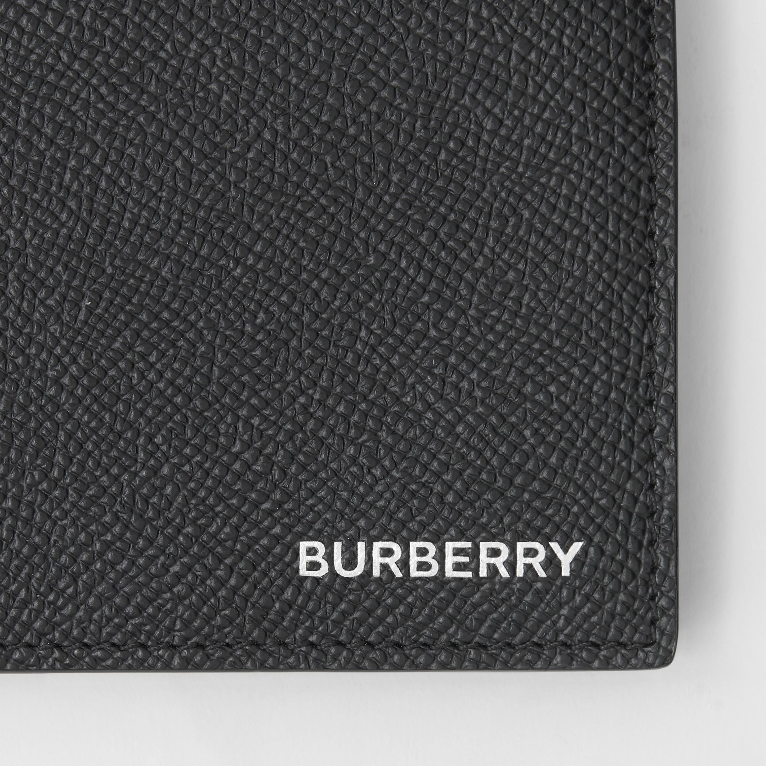 Grainy Leather International Bifold Coin Wallet in Black - Men | Burberry - 2