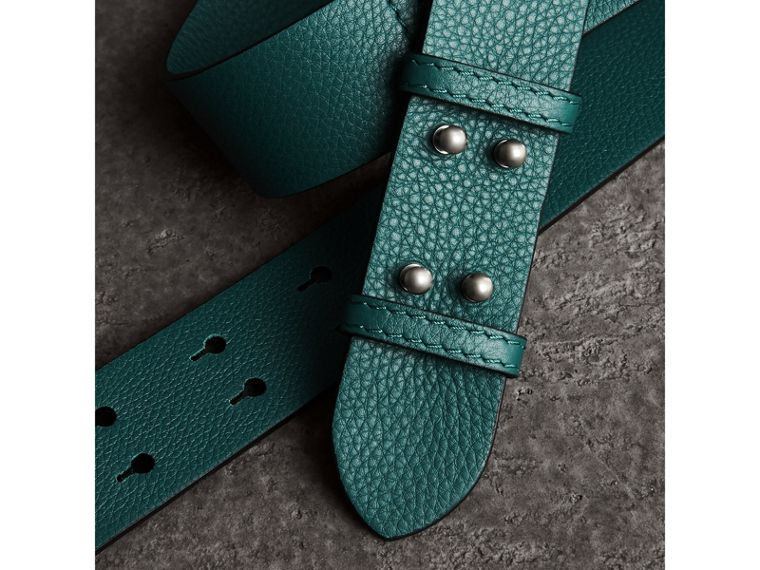 The Small Belt Bag Grainy Leather Belt in Sea Green - Women | Burberry - cell image 1