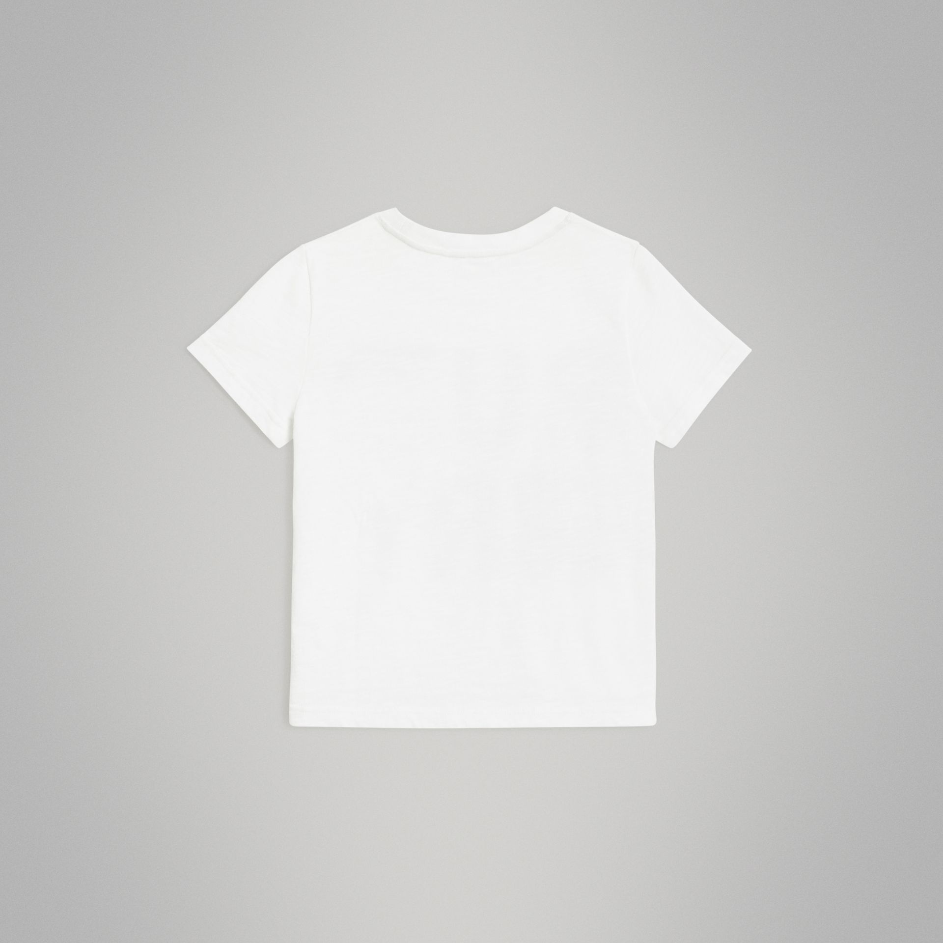 Logo Print Cotton T-shirt in White | Burberry - gallery image 3