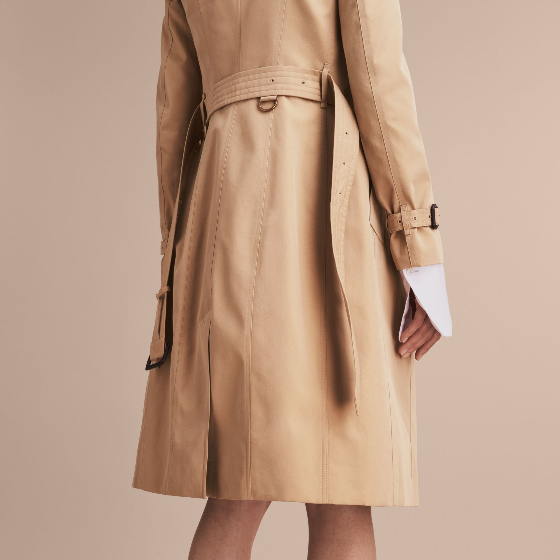 Honey The Sandringham – Extra-long Heritage Trench Coat Honey - gallery image 7