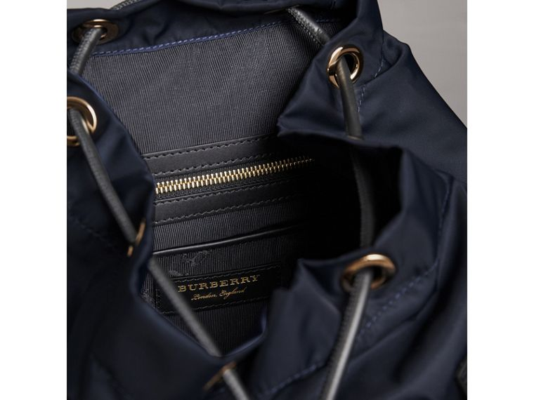 The Medium Rucksack in Technical Nylon and Leather in Ink Blue - Women | Burberry Singapore - cell image 4