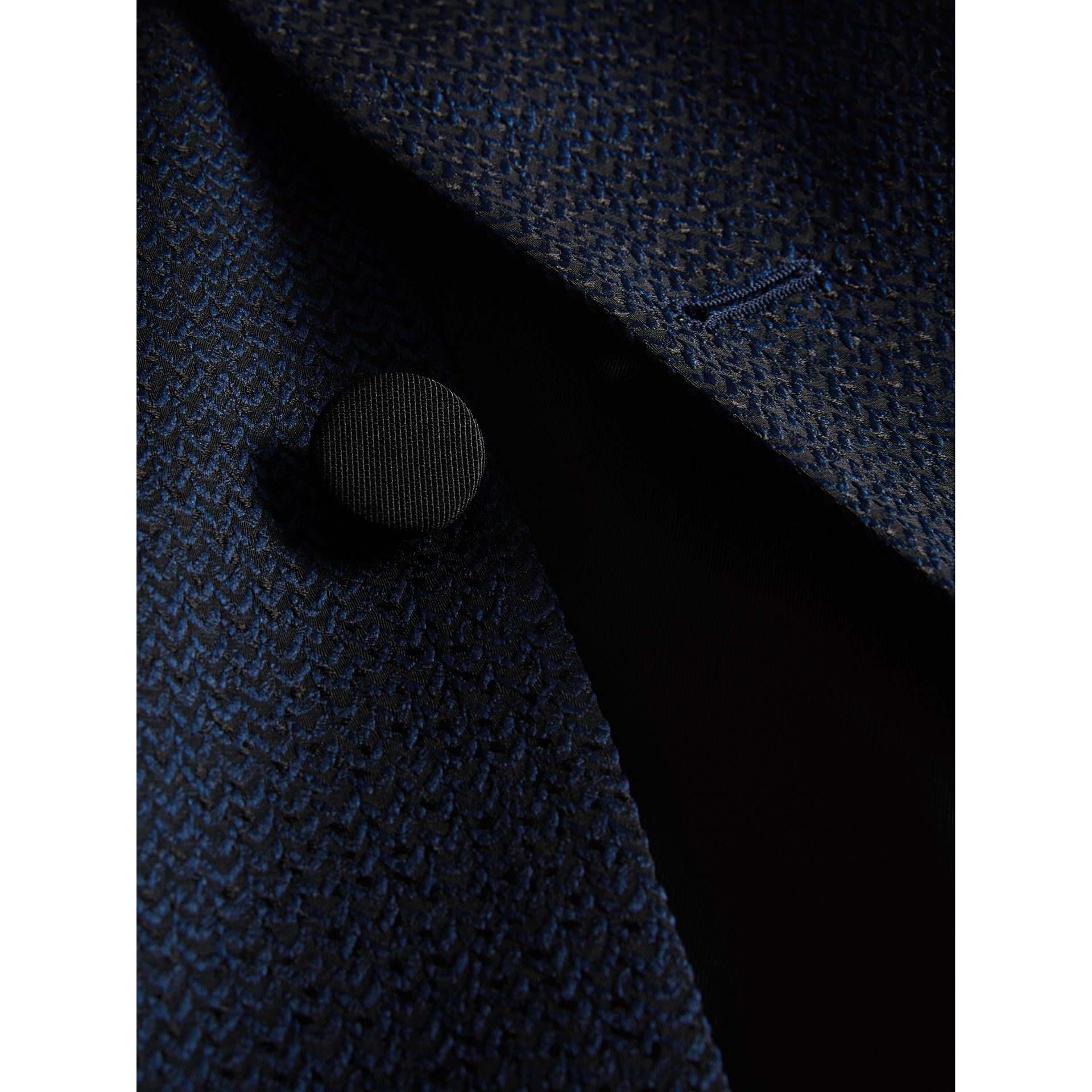 Soho Fit Jacquard Evening Jacket in Navy - Men | Burberry United Kingdom - gallery image 1