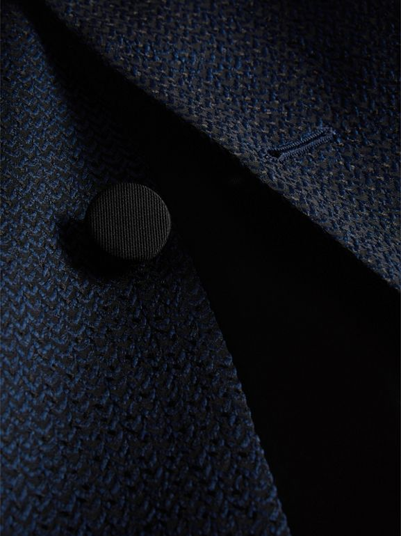 Soho Fit Jacquard Evening Jacket in Navy - Men | Burberry - cell image 1