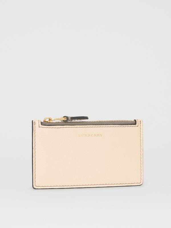 Two-tone Leather Card Case in Limestone | Burberry - cell image 3