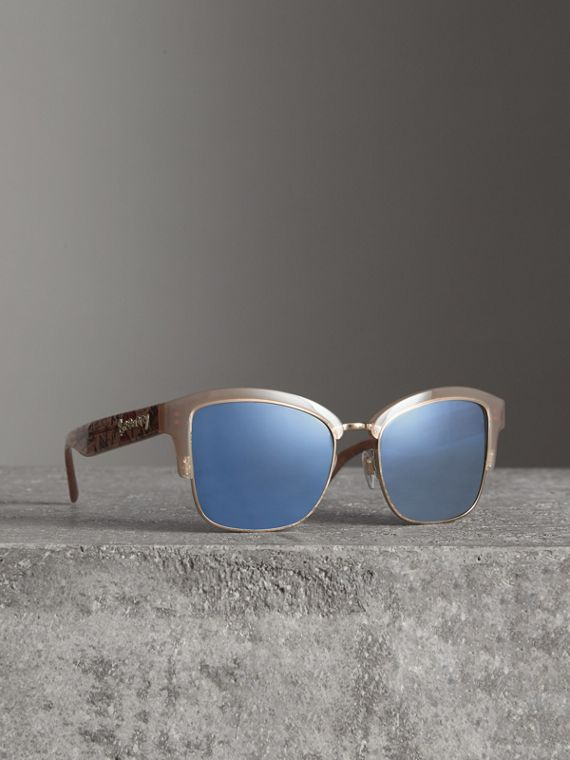 Doodle Square Frame Sunglasses in Trench