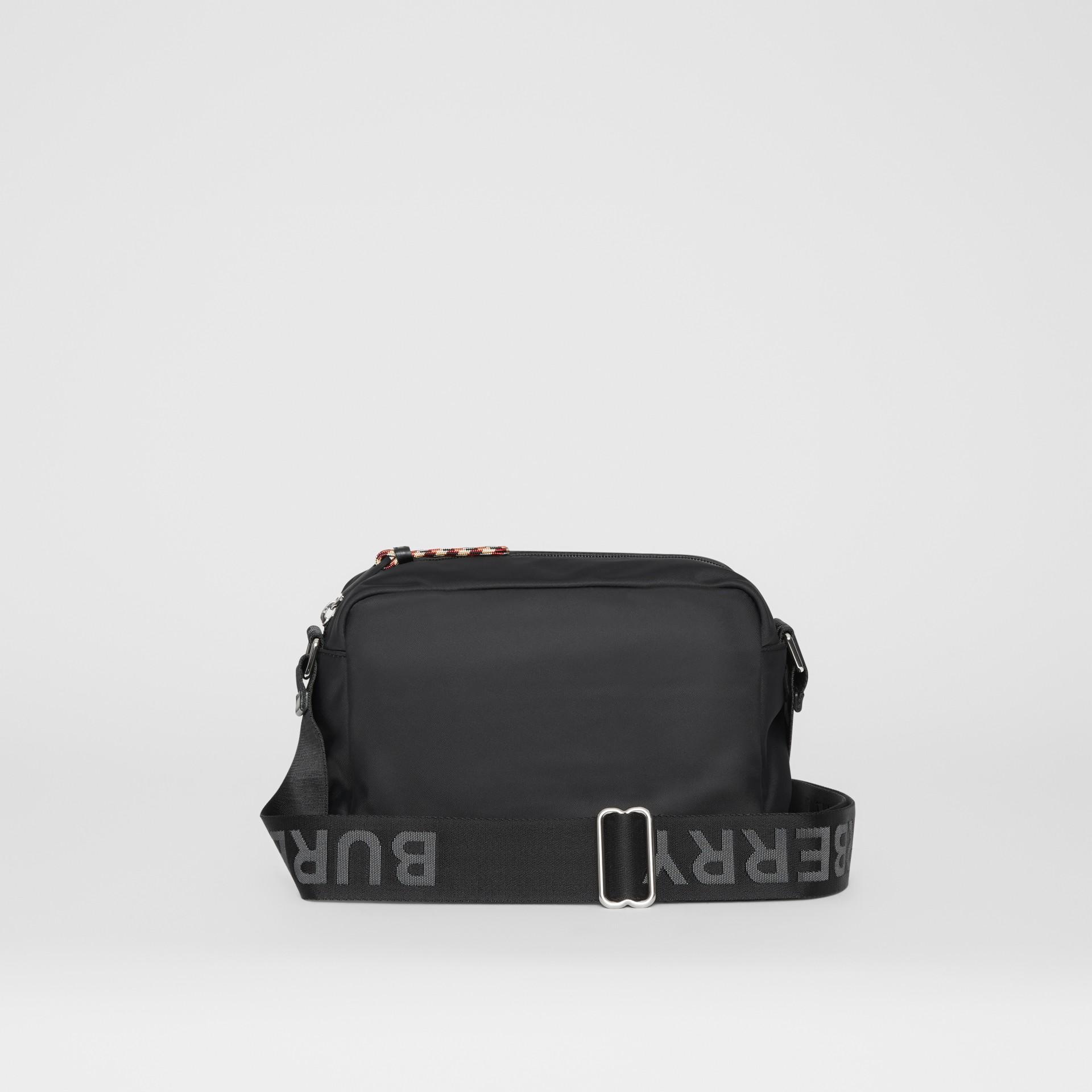 Logo Detail Crossbody Bag in Black - Men | Burberry United Kingdom - gallery image 9