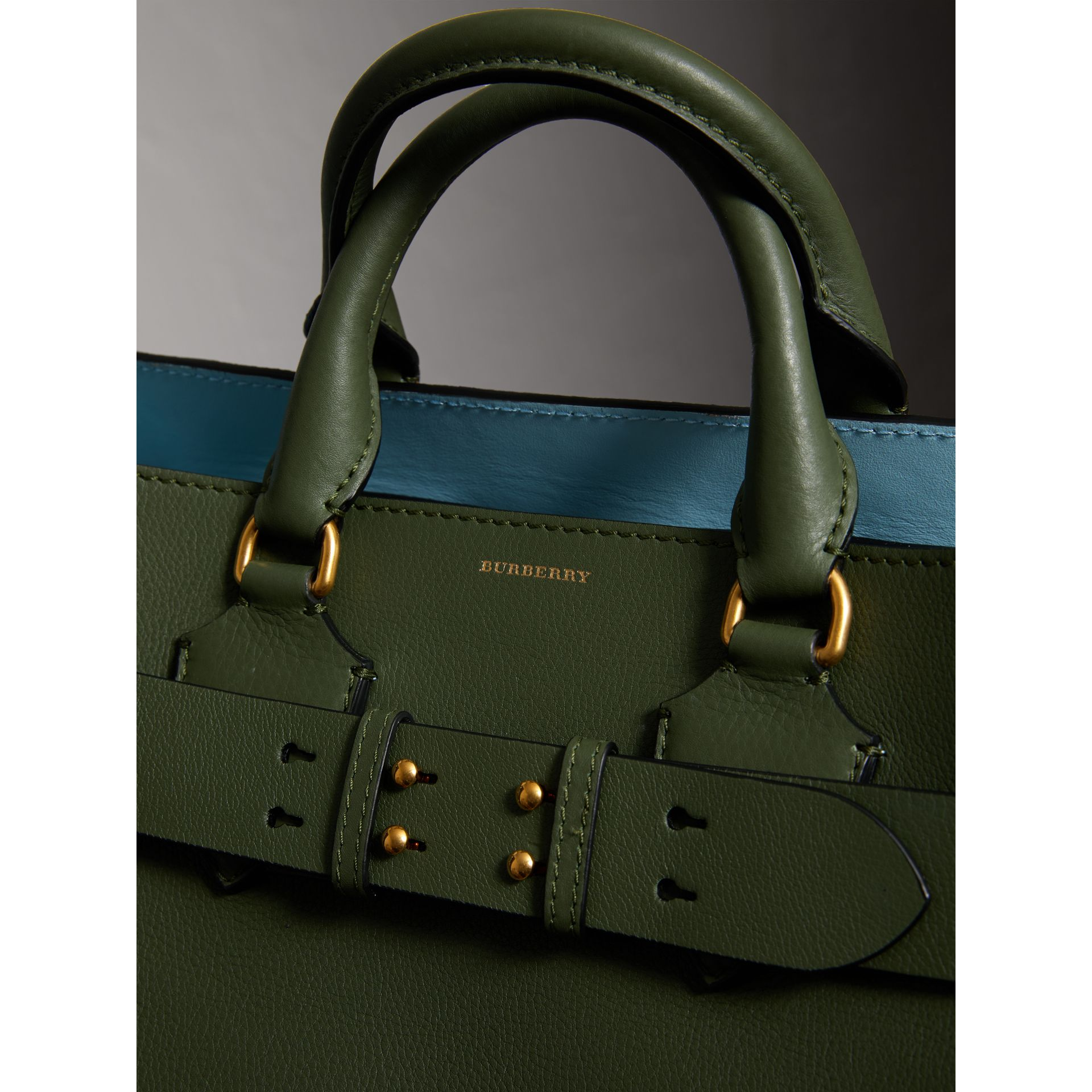 The Medium Leather Belt Bag in Sage Green - Women | Burberry - gallery image 1