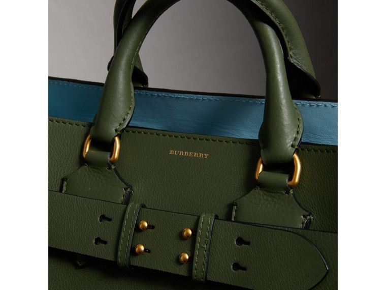 The Medium Leather Belt Bag in Sage Green - Women | Burberry - cell image 1