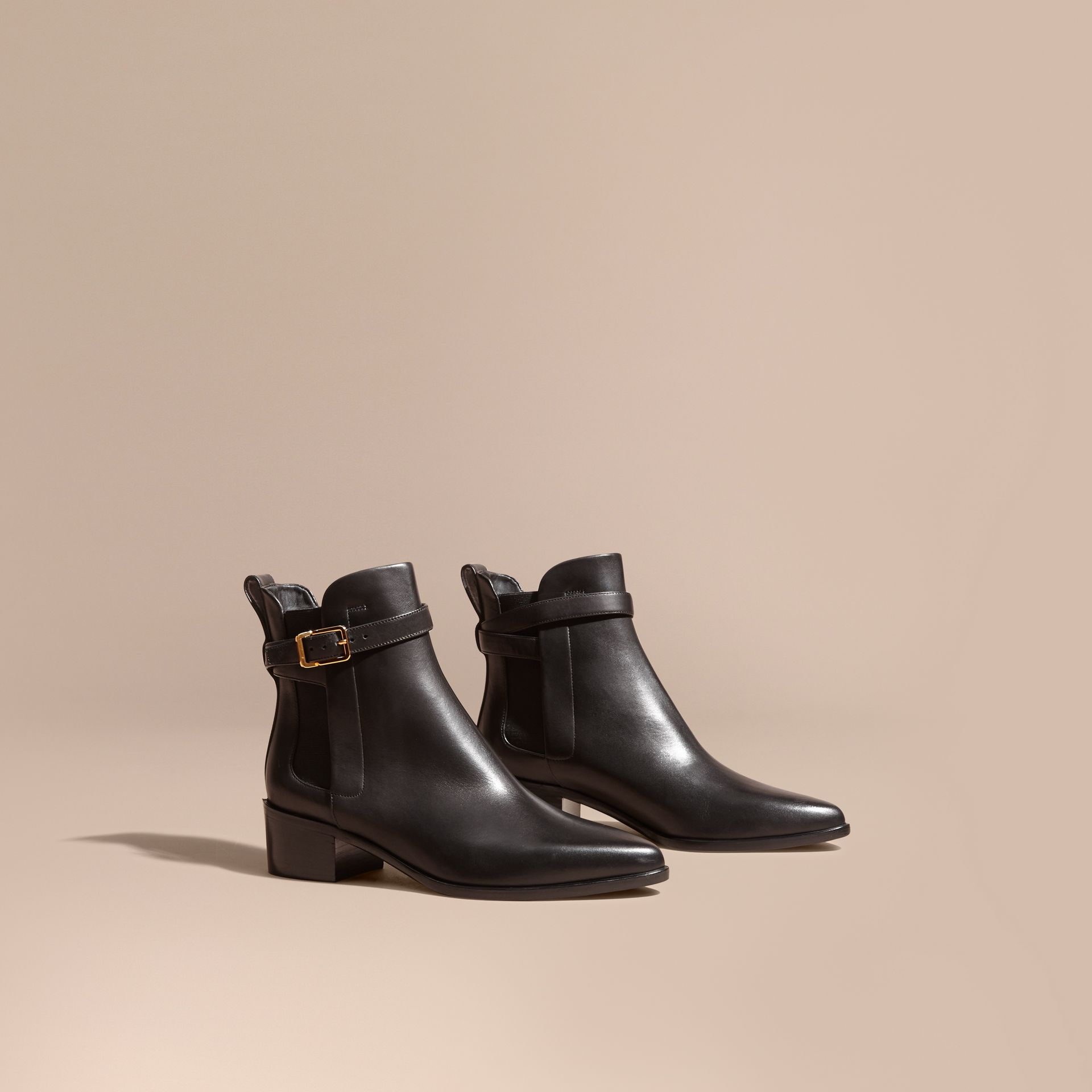 Buckle Detail Leather Chelsea Boots - gallery image 1