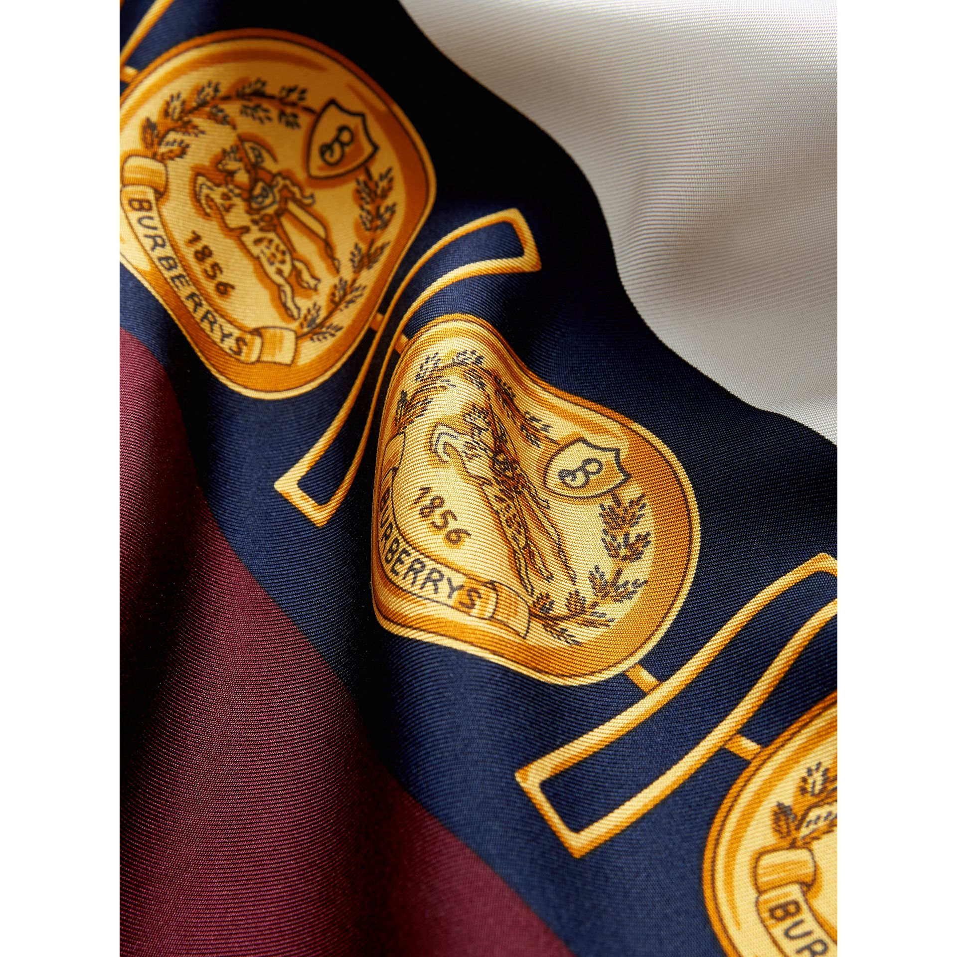 Archive Scarf Print Silk Oversized Scarf in Bright Ultramarine | Burberry - gallery image 1