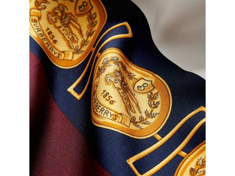 Archive Scarf Print Silk Scarf in Bright Ultramarine | Burberry - cell image 1
