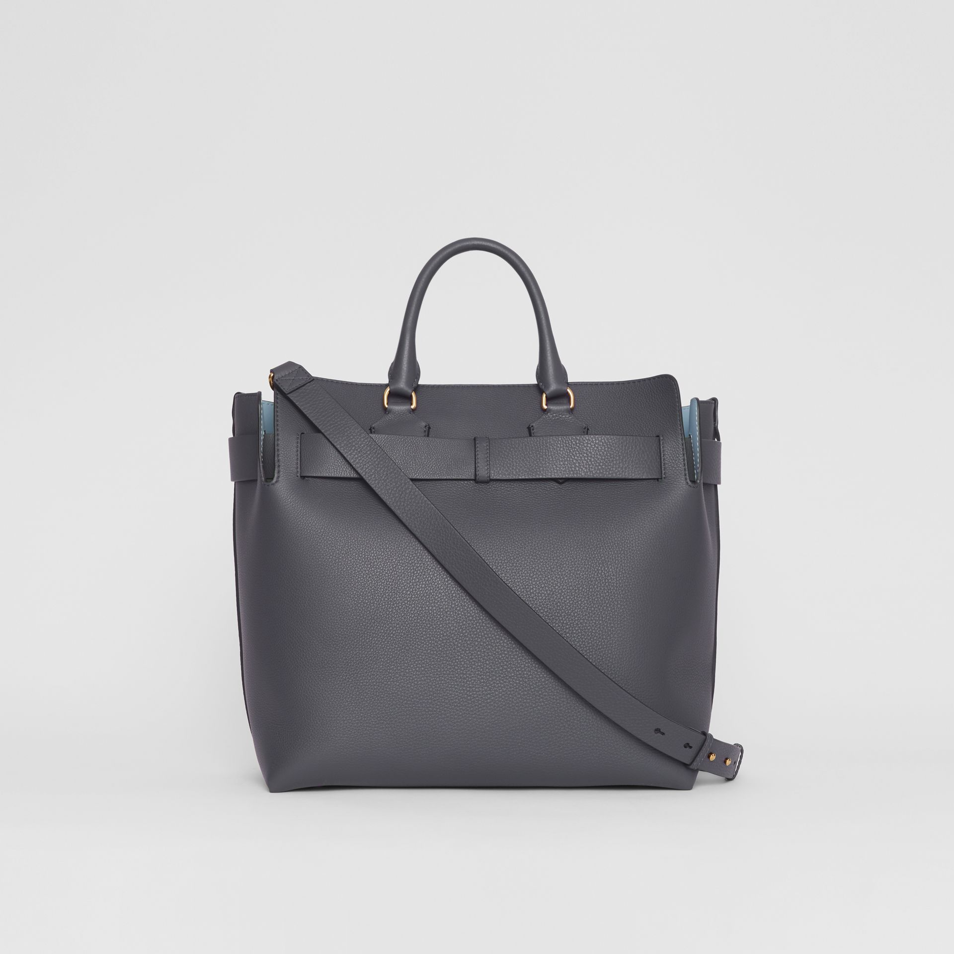 The Large Leather Belt Bag in Charcoal Grey | Burberry - gallery image 9