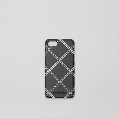 Link Print Leather I Phone 8 Case by Burberry