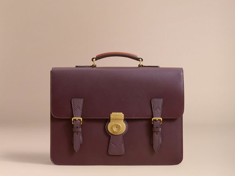 The Medium DK88 Satchel in Wine - Men | Burberry Hong Kong - cell image 4