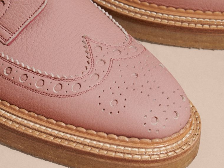 Leather Wingtip Brogues in Rose Pink - cell image 1