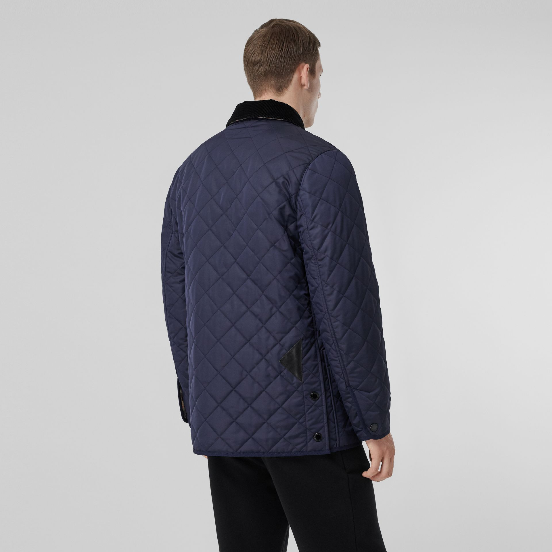 Diamond Quilted Thermoregulated Barn Jacket in Navy - Men | Burberry United Kingdom - gallery image 2