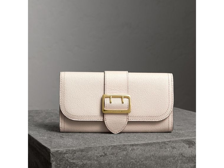 Textured Leather Continental Wallet in Limestone - Women | Burberry United States - cell image 4