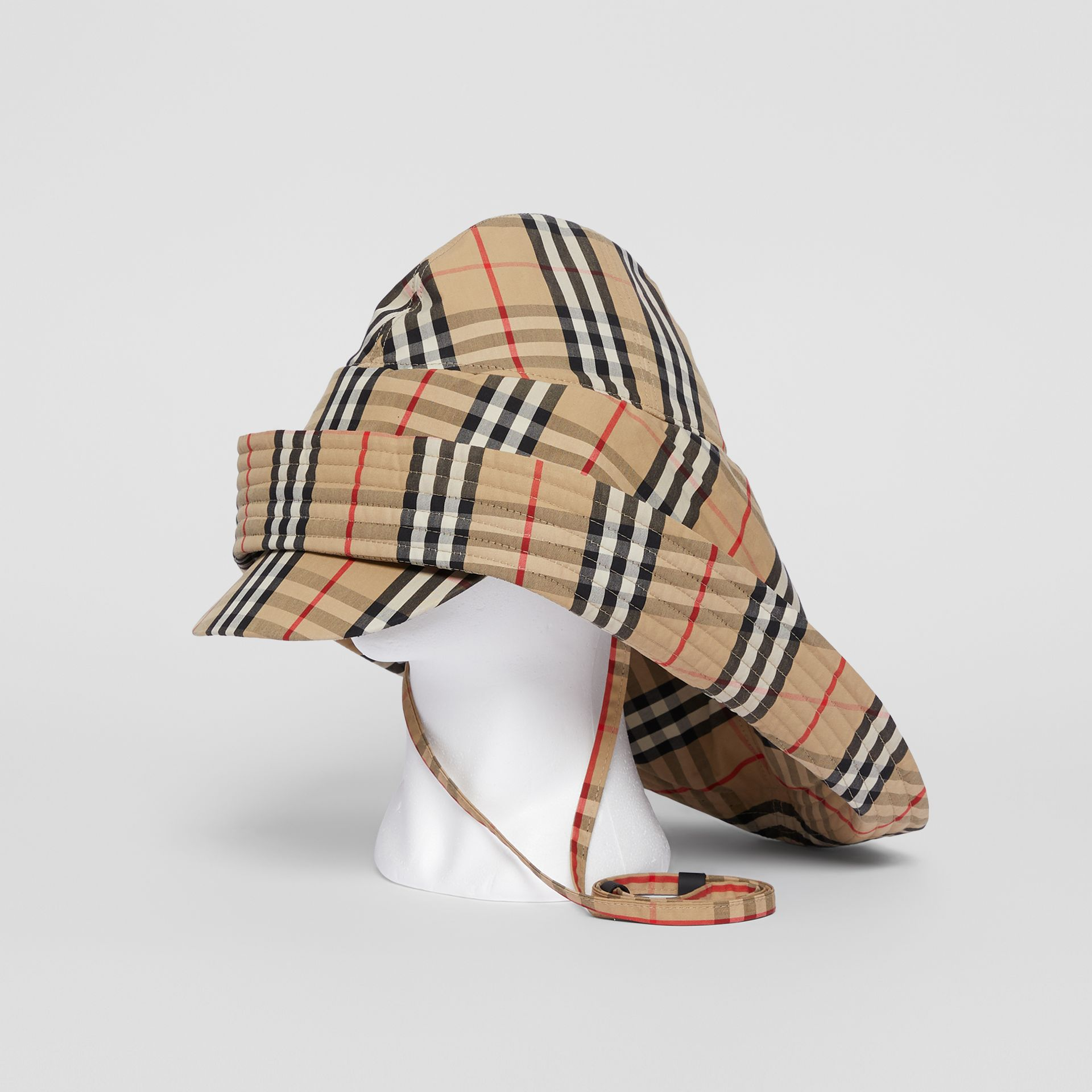 Vintage Check Rain Hat in Archive Beige | Burberry United Kingdom - gallery image 0