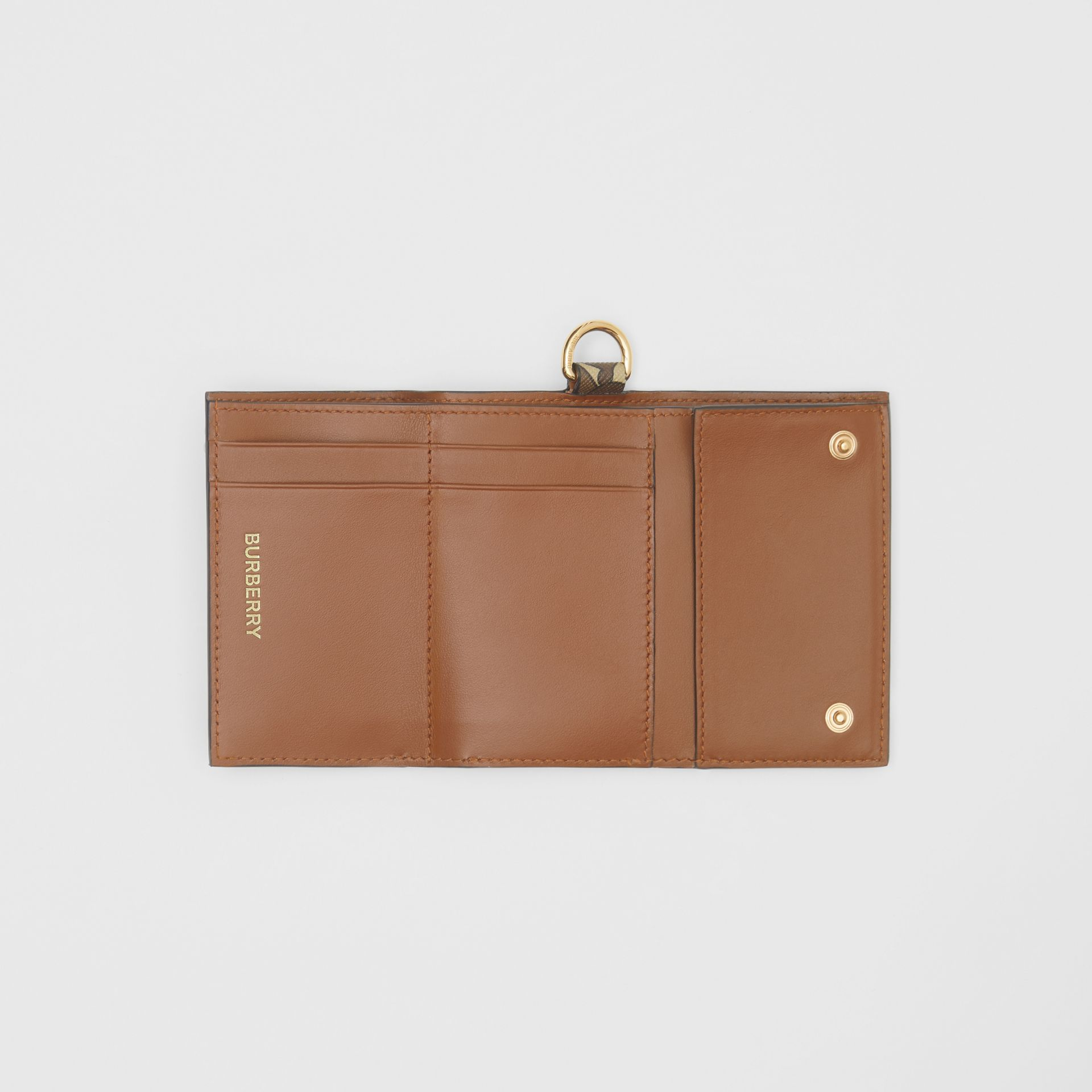 Small Monogram Print E-canvas Folding Wallet in Bridle Brown - Men | Burberry United Kingdom - gallery image 3