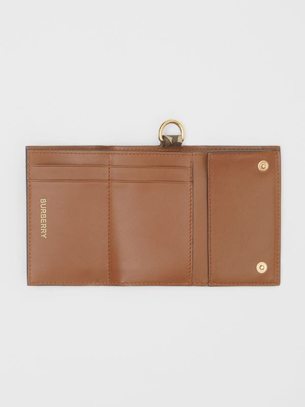Small Monogram Print E-canvas Folding Wallet in Bridle Brown - Men | Burberry United Kingdom - cell image 3