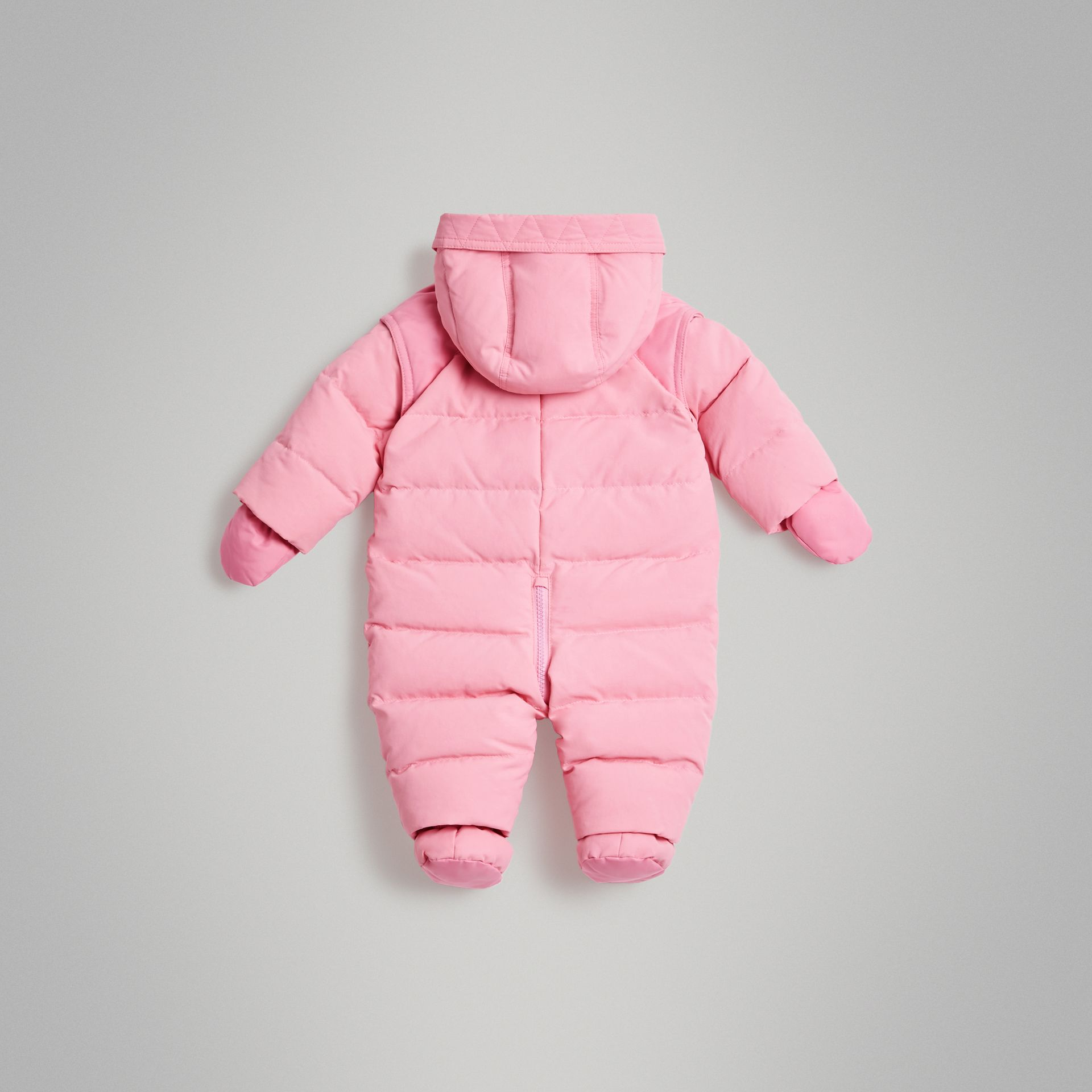 Down-filled Puffer Suit in Ice Pink - Children | Burberry Australia - gallery image 3