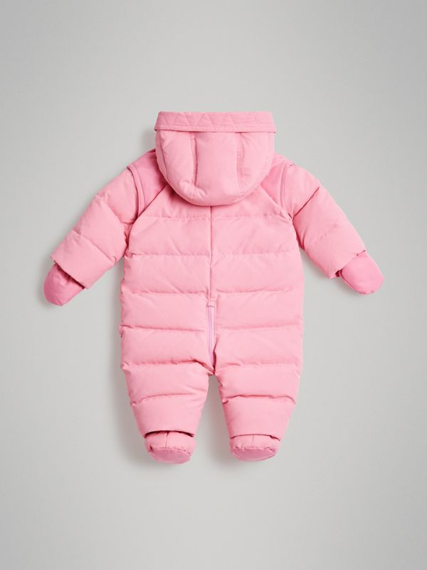 Down-filled Puffer Suit in Ice Pink - Children | Burberry Australia - cell image 3