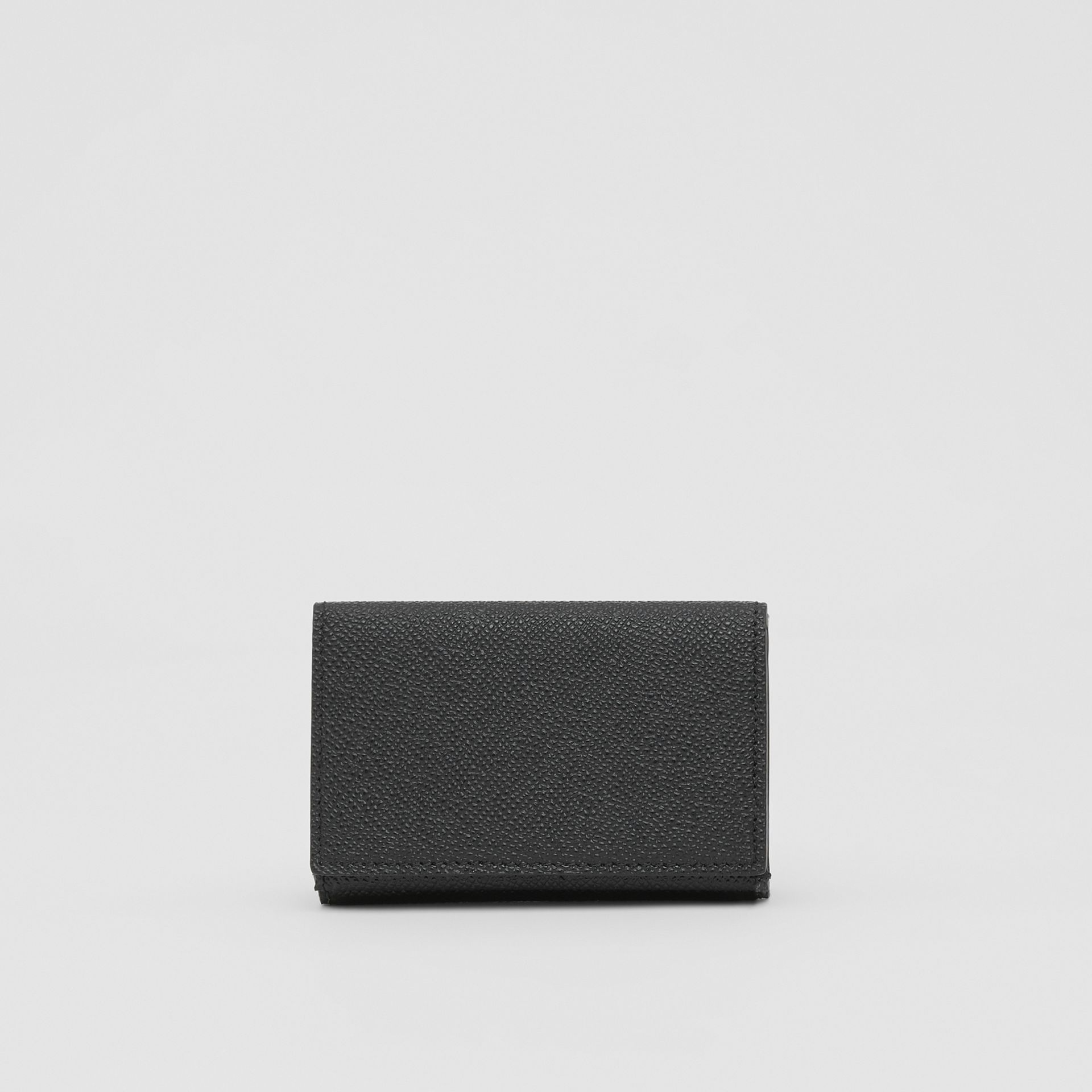 Small Grainy Leather Folding Wallet in Black - Men | Burberry - gallery image 5