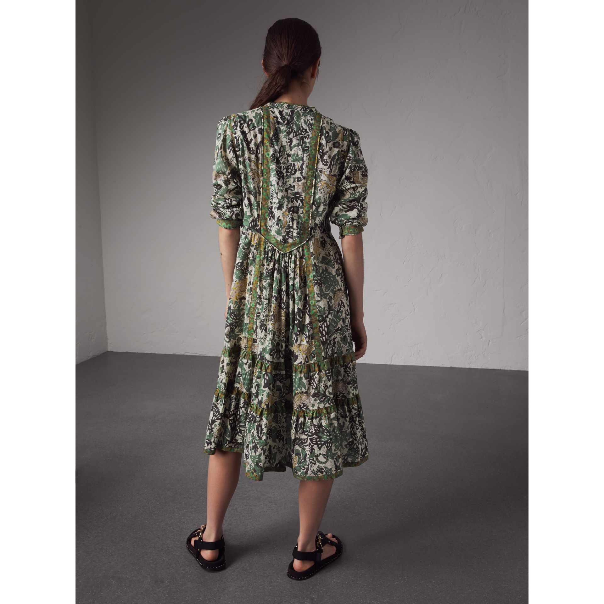 Beasts Print Cotton Day Dress - Women | Burberry Australia - gallery image 3