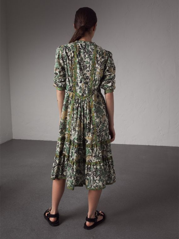 Beasts Print Cotton Day Dress - Women | Burberry - cell image 2