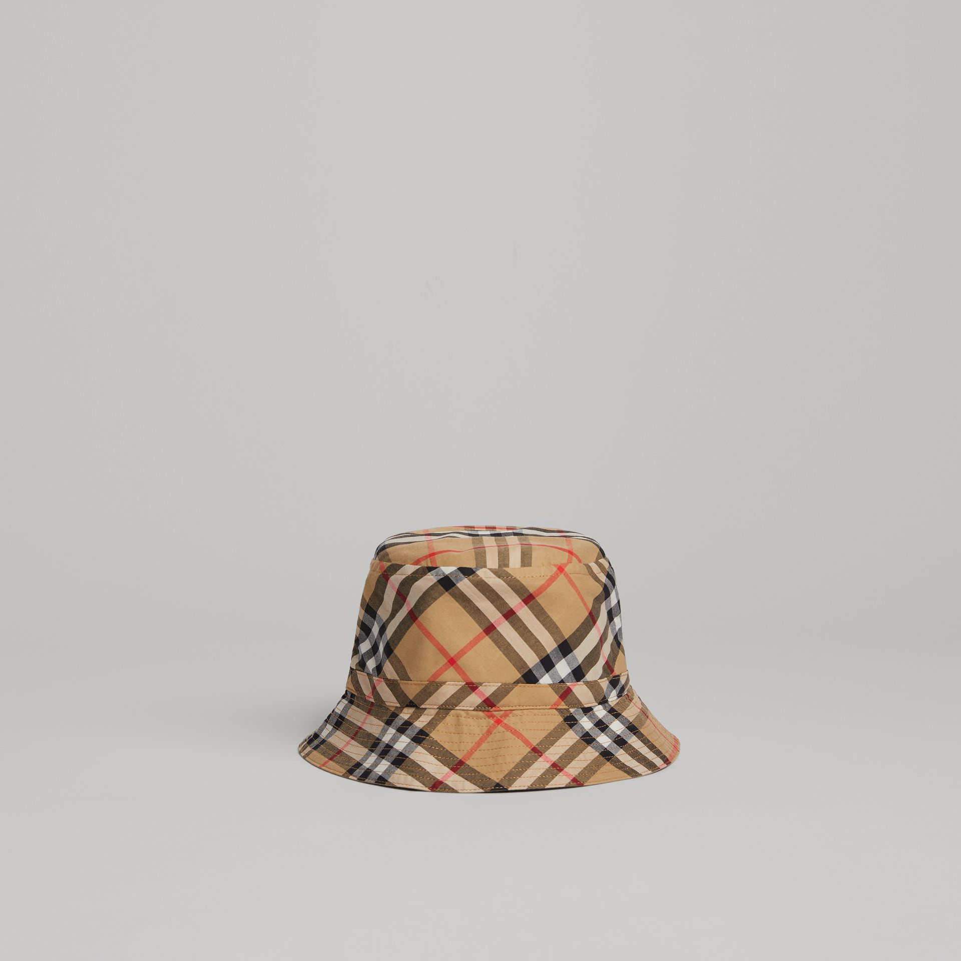 Vintage Check Bucket Hat in Antique Yellow | Burberry United Kingdom - gallery image 0