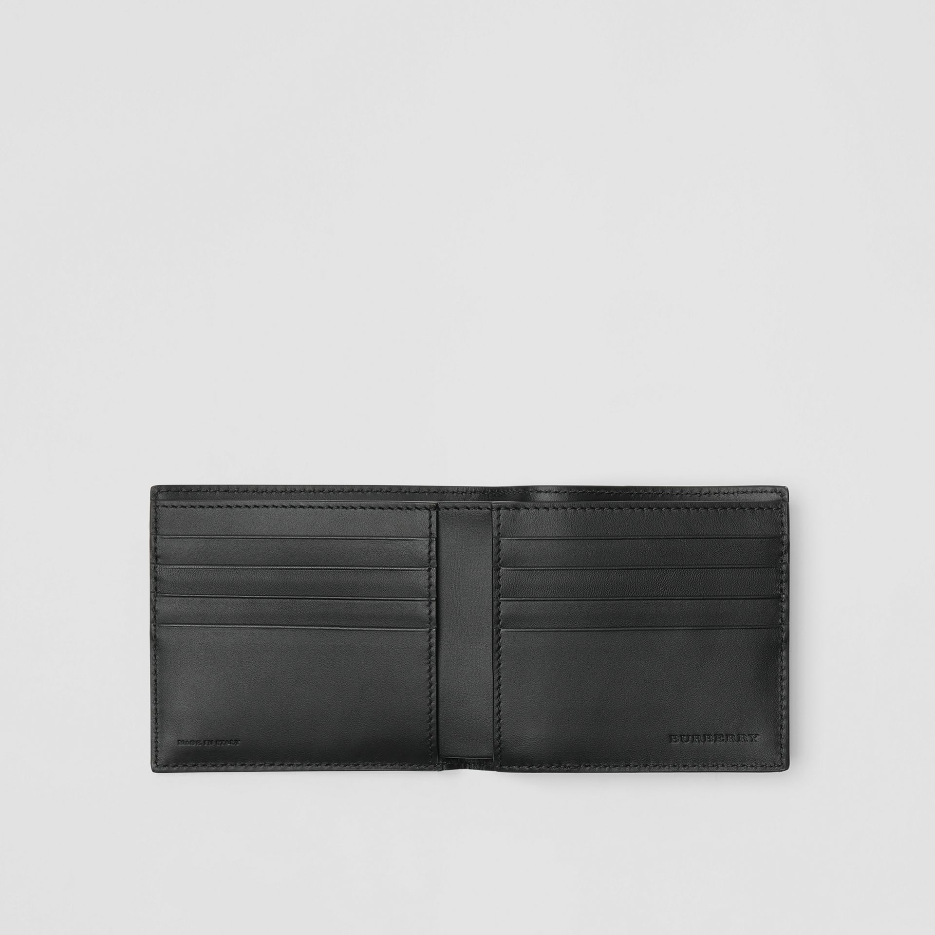 London Leather International Bifold Wallet in Navy - Men | Burberry United Kingdom - gallery image 2