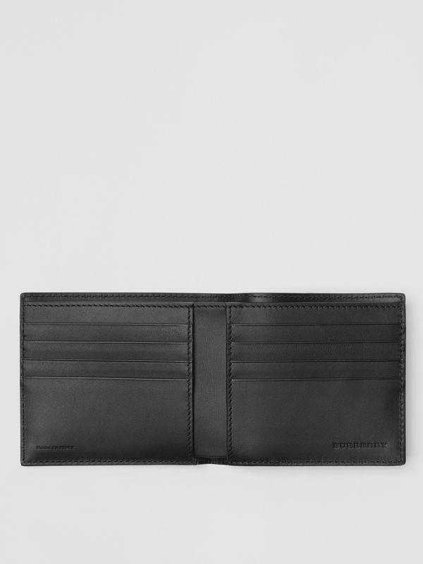 London Leather International Bifold Wallet in Navy - Men | Burberry Hong Kong - cell image 2