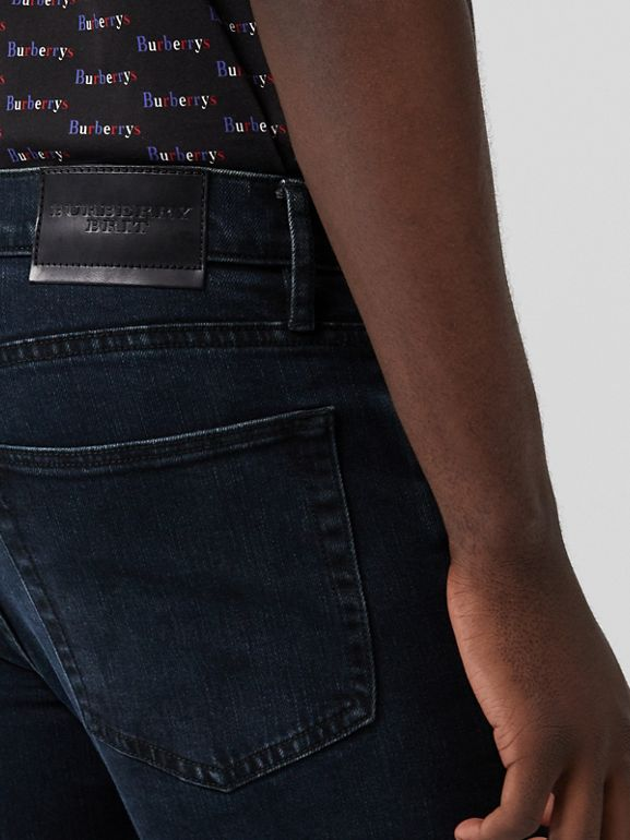 Straight Fit Stretch Denim Jeans in Dark Indigo - Men | Burberry United Kingdom - cell image 1