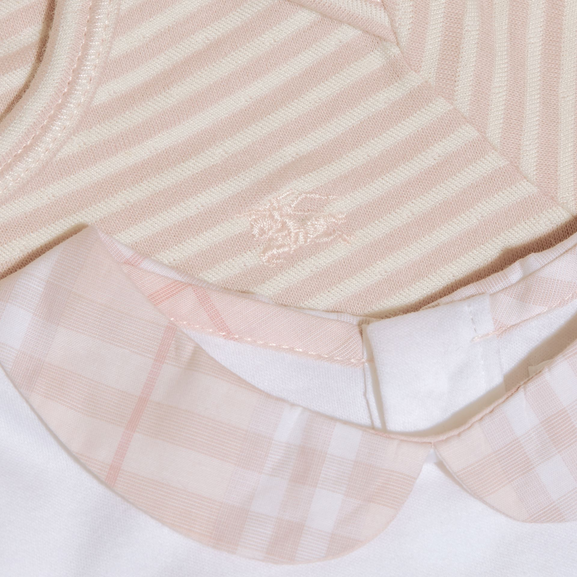 Powder pink Patterned Cotton Blend Three-piece Baby Gift Set - gallery image 2